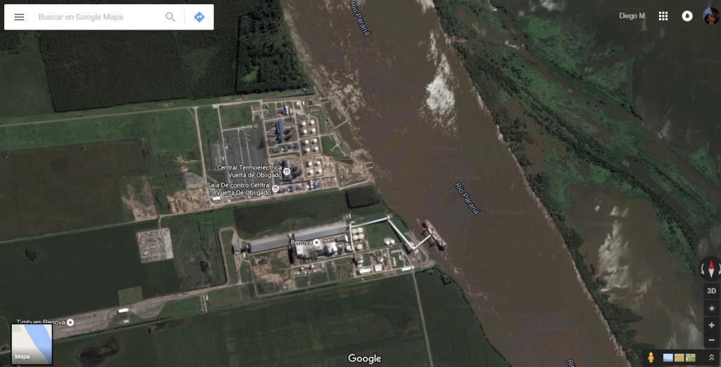 Plus Ultra Amarres - Mapa de cobertura - Termoeléctrica
